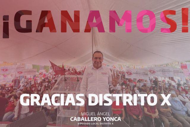 Caballero Yonca gana la diputación local del Distrito X