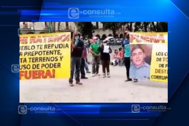 Líderes políticos de Totolac se manifiestan contra el alcalde