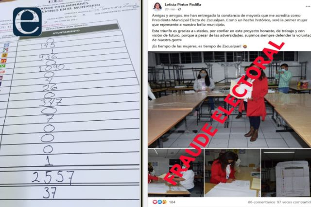 Roban elección en Zacualpan a Isidro Nohpal de MC: señalan a personal del ITE
