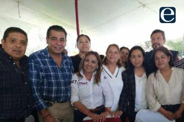 Apoyaron a Anabell Ávalos y llegan a festejo de Lorena Cuéllar