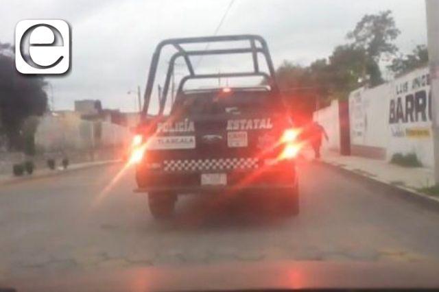 Ante bloqueos, comienza presencia de Policía Estatal en Xicohtzinco