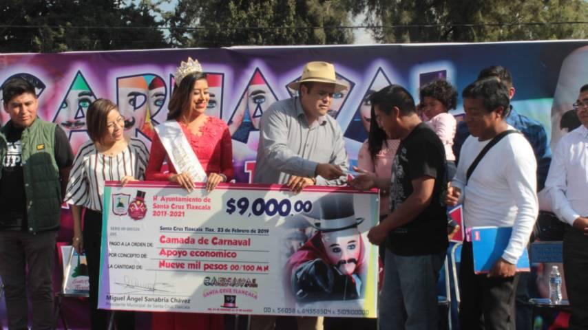 Espectacular y colorido desfile de Carnaval Santa Cruz Tlaxcala 2019