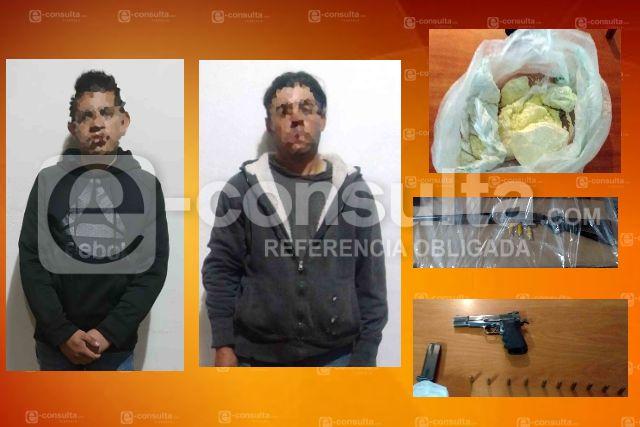 Detienen en Emiliano Zapata a dos mariguanos con arma de fuego