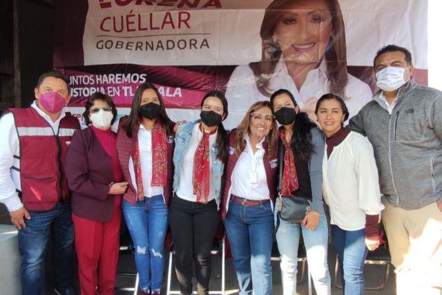 Cuñada del gobernador va con Lorena Cuéllar