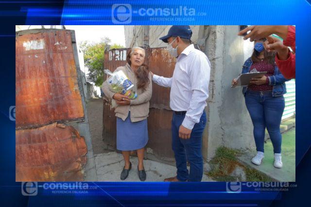 El Cabrito inicia la dispersión de 3 mil despensas a familias vulnerables de Quilehtla