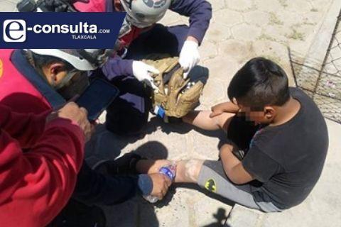 Infante desbarranca a una cisterna en Calpulalpan