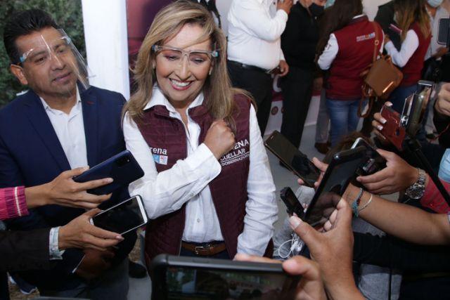 Rechaza Lorena Cuéllar uso de símbolos religiosos