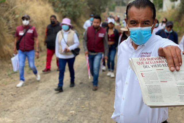 Matlalohcan ya es territorio de morena: Juan Luis Hernández