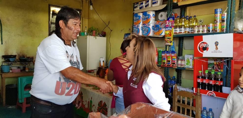 Lorena regresa a Totolac a agradecer apoyo