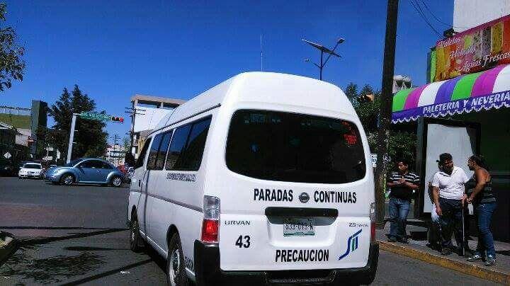 Se quejan del pésimo servicio de transporte público en Apizaco