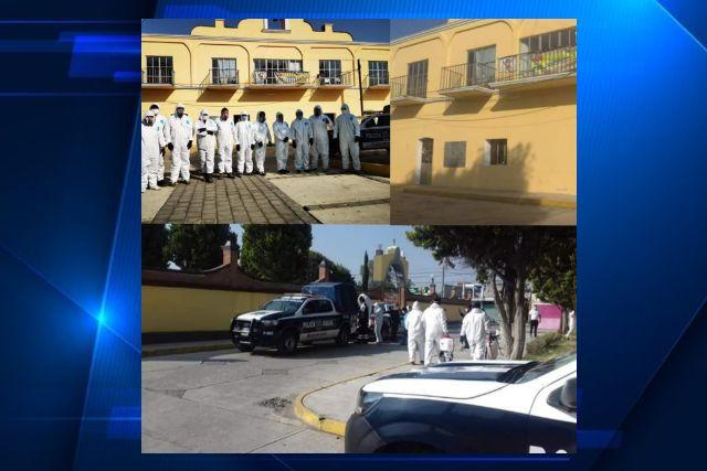 Realizan sanitización de calles en cabecera de Santa Cruz Tlaxcala y sus comunidades