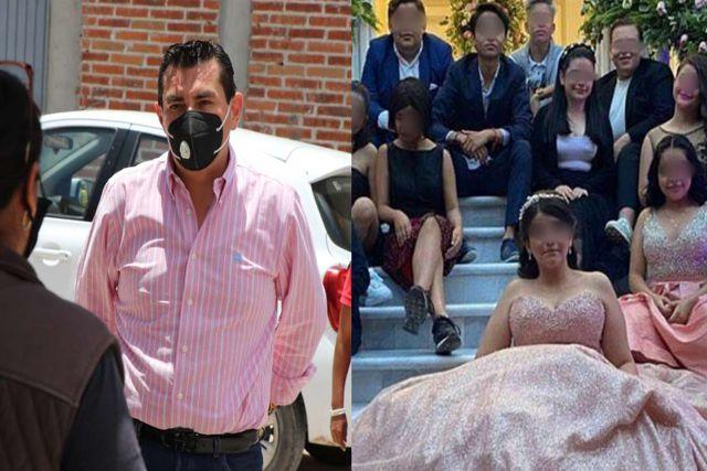 Alcalde de Dolores Hidalgo se contradice y celebra XV años de su hija