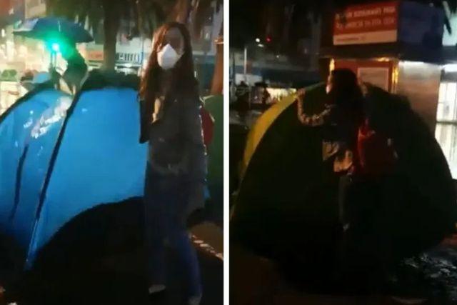 Intimidan a activista por delatar casas de campaña vacías en plantón en FRENAAA