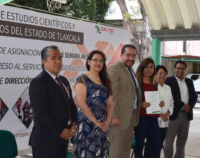 Asignó CECyTE Tlaxcala cargos a directivos y horas a  docentes idóneos
