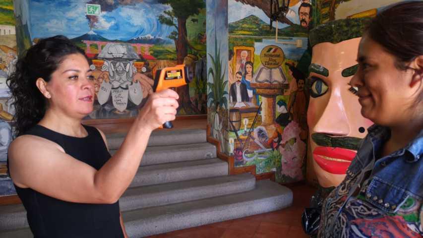 Ayuntamiento de Tetla refuerza medidas sanitarias ante brote de Covid- 19