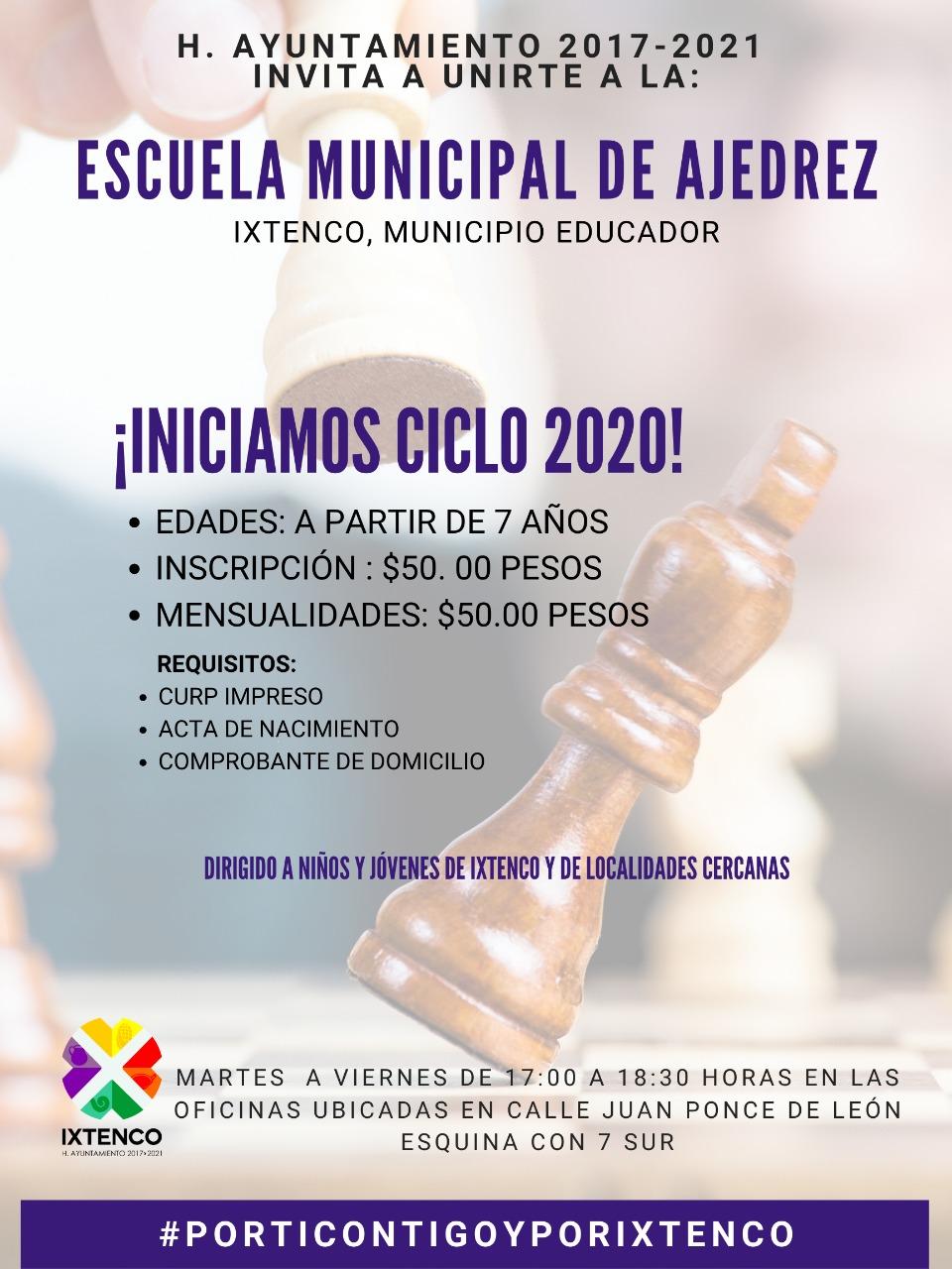 Inicia ciclo escolar 2020 en escuela Municipal de ajedrez de Ixtenco