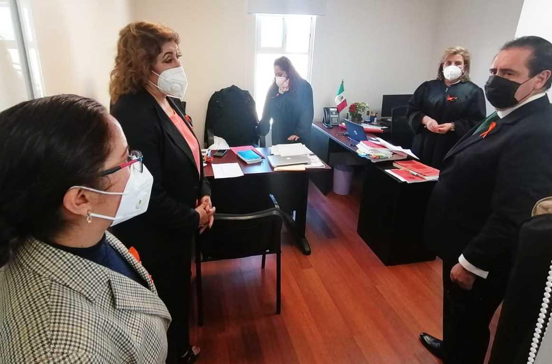 Supervisa Bernal Salazar medidas de sanidad en Casa de Justicia de Sánchez Piedras
