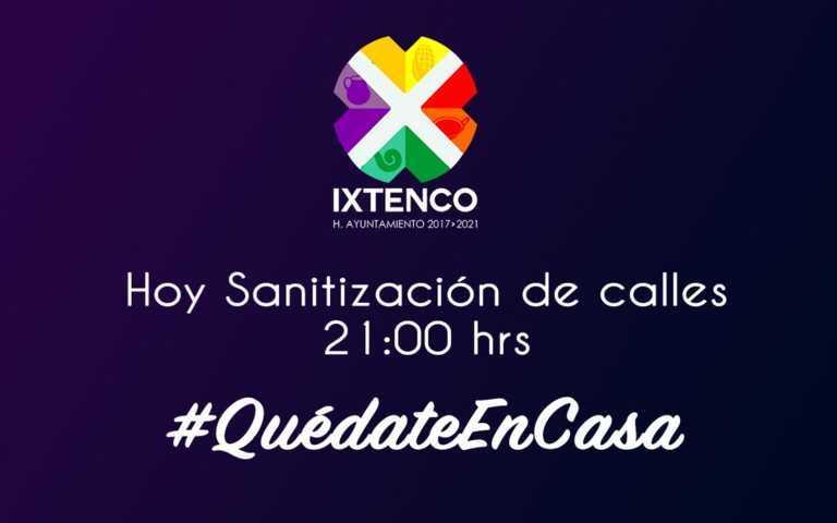 Esta noche llevarán a cabo en Ixtenco sanitización de calles