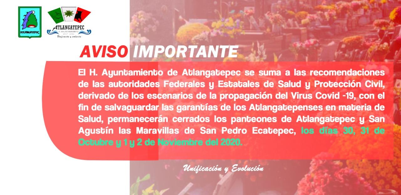 Atlangatepec hace la siguiente recomendación ante la temporada de Todos Santos