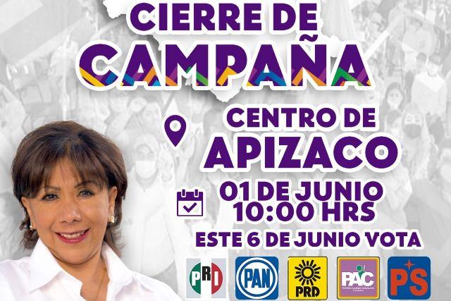 A Burócratas les darán el día para que apoyen a Anabell Ávalos en Apizaco para su cierre de campaña