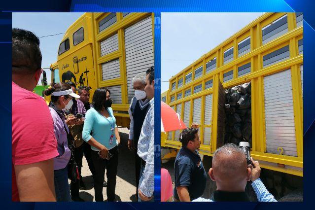 Localizan un camión cargado de despensas en Xaloztoc; es de un candidato ganador