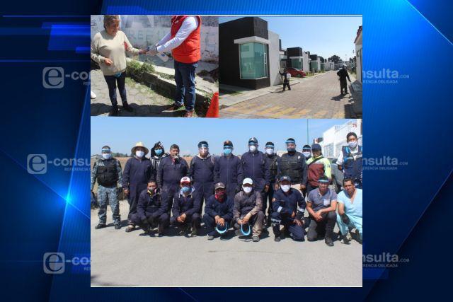 Continúa sanitización en San Miguel Contla y atención en los tianguis de Santa Cruz Tlaxcala y Tlachco