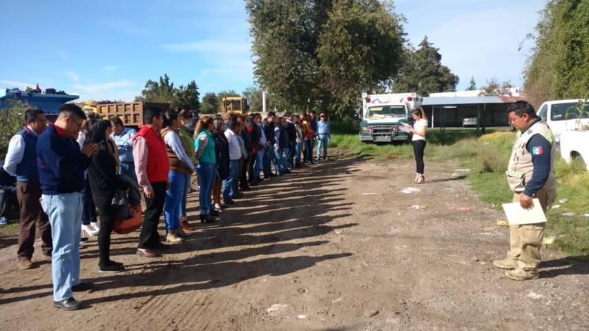 Yauhquemehcan se suma al macrosimulacro en el Día Nacional de Protección Civil