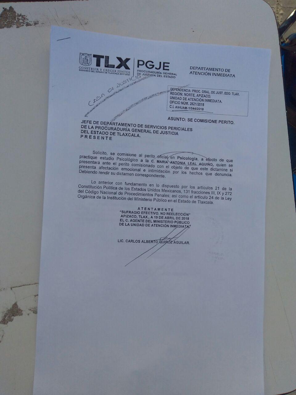 Denuncian pobladores de Ixtenco intimidación de Caballero Yonca