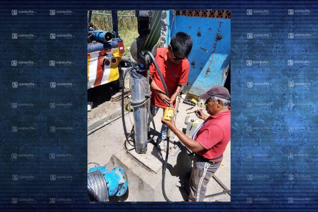 Modifican pozo de riego en Papalotla para abastecer a la población de Xaltipa