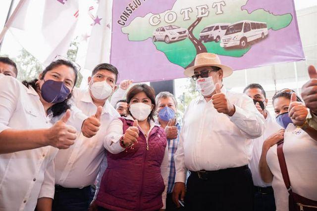 Transportistas de Tlaxcala se suman al proyecto de Anabell Ávalos