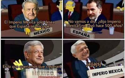 Revuelo de memes causa AMLO ante disculpas a España