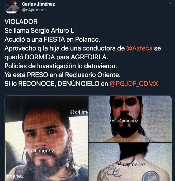 Denuncia hija de famosa conductora de TV Azteca  supuesto agresor de violación