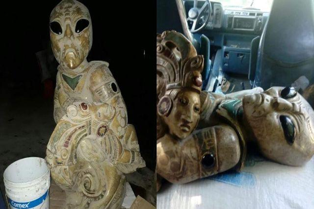 Hallan supuestas fotografias de aliens en construcción de Tren Maya