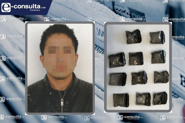 La SSC detiene a una persona con narcóticos en Huamantla