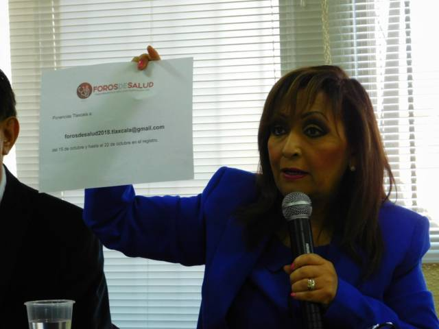 Anuncia Lorena Cuéllar Foro de Salud en Tlaxcala