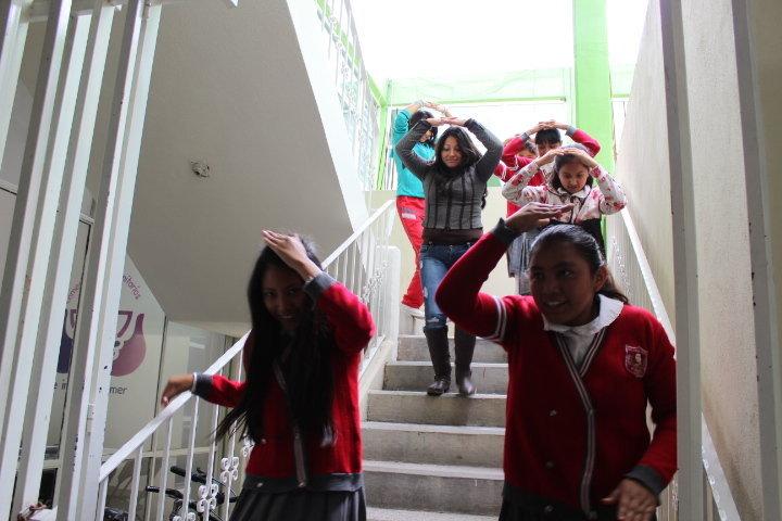 Fomentan en estudiantes la prevención  en caso de sismos