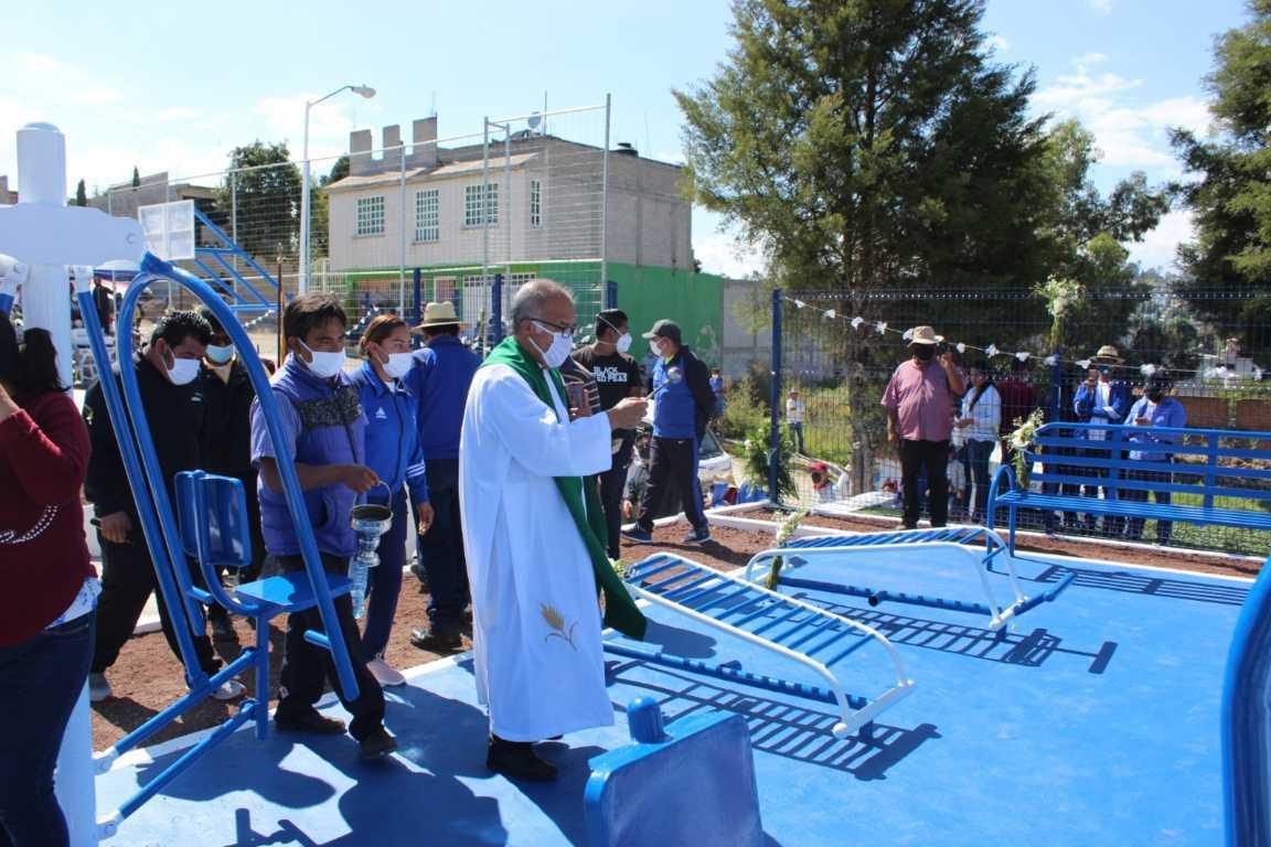 Inaugura alcalde de Tepetitla el Parque Deportivo de la colonia Emiliano Zapata