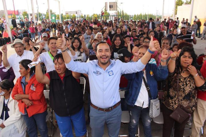 Loma Florida y II dan su apoyo a Pablo Badillo Sánchez
