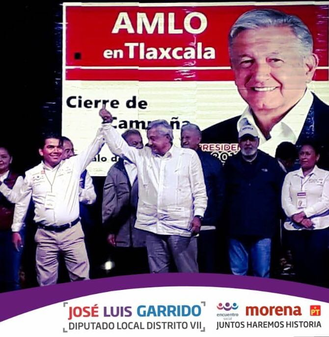 AMLO apuntala a Garrido para el Congreso local