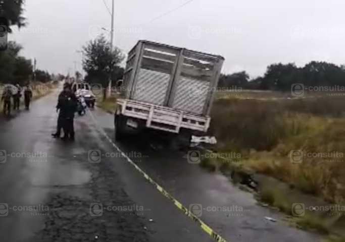 Matan a motociclista en Tzompantepec