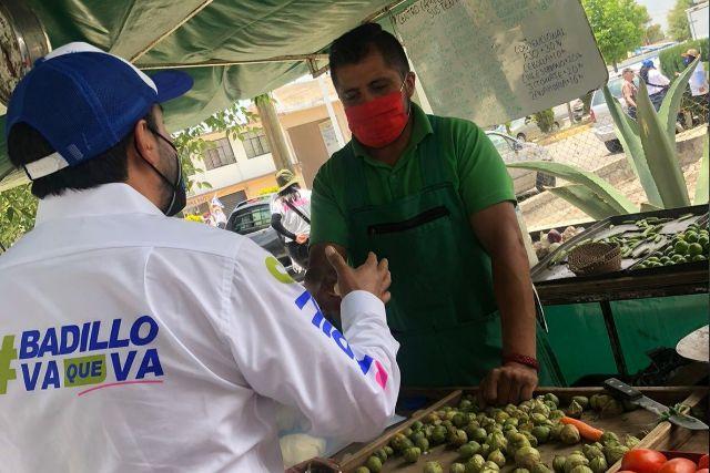 Pablo Badillo será un aliado de los comerciantes apizaquenses