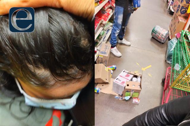 Tienda comercial de Huamantla pone en riesgo la vida de una niña de 5 años