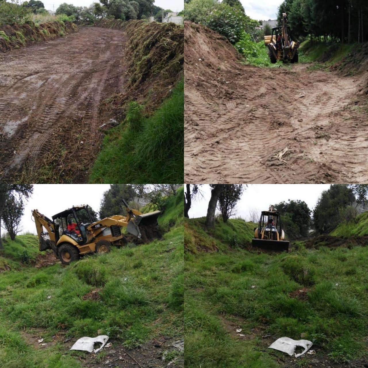 Inicia desazolve de canales y limpieza de barrancas en Xiloxoxtla