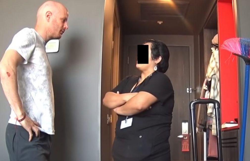 Facundo fue víctima de robo y exhibe a mujer en un hotel