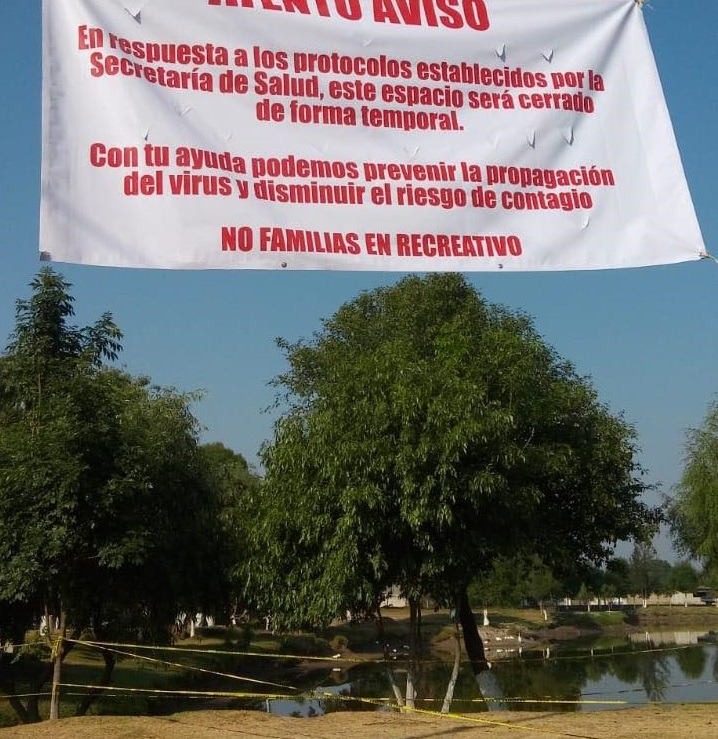 Acordonan presa de Acomulco en Zacatelco por el COVID 19