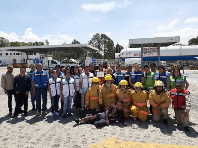 PC municipal participa en simulacro de incendio de Gas LP impartido por PROFEPA