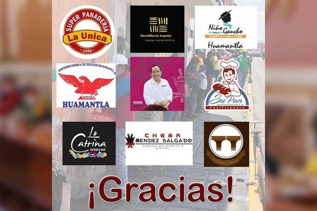 Agradece diputado Chema Méndez a los empresarios de Huamantla