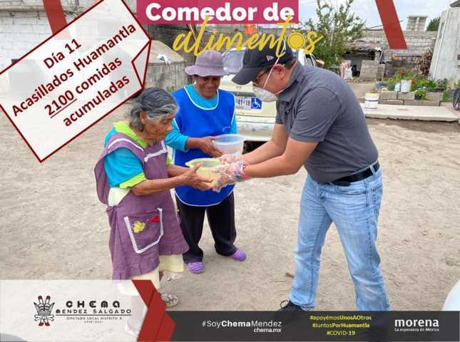 Entrega Diputado Chema Méndez despensas en comunidades de Huamantla