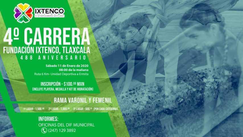 Ixtenco celebrará su 488 aniversario con la 4ta Carrera de su Fundación