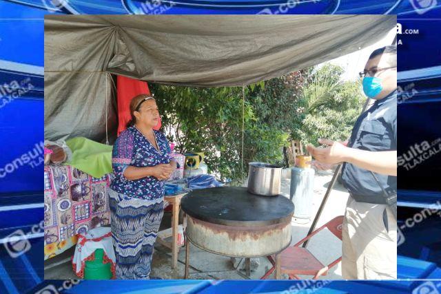 Policía de Nativitas vigila que se cumplan recomendaciones contra el covid